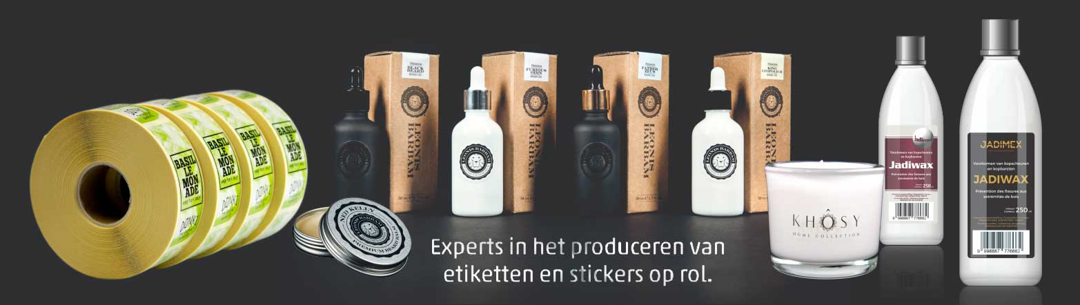 Experts in het produceren van etiketten